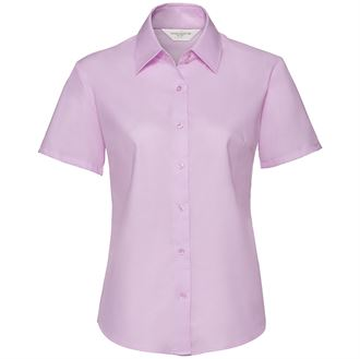Women's short sleeve Oxford shirt pink